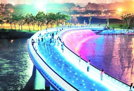 Cầu Ánh Sao sử dụng công nghệ đèn LED